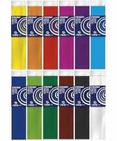 Feest 12x crepe papier basis pakket 250 x 50 cm knutsel materiaal