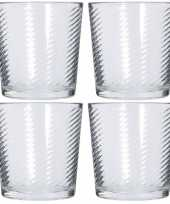 Feest 12x drinkglazen waterglazen 250 ml