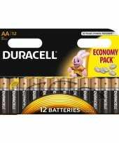 Feest 12x duracell aa batterijen alkaline