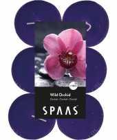 Feest 12x maxi geurtheelichtjes wild orchid paars 10 branduren