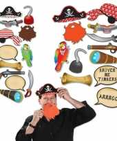 Feest 12x piraten thema photobooth props