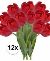 Feest 12x rode tulp kunstbloemen 48 cm