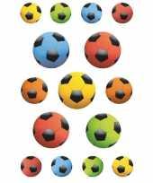 Feest 135x gekleurde voetballen stickers
