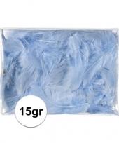 Feest 15 gram blauwe decoratie dons veren