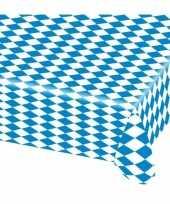 Feest 15x blauw met wit tafelkleden van 80x260 cm