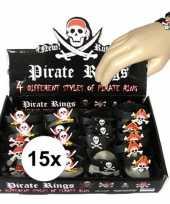 Feest 15x piraten armbandjes voor kinderen
