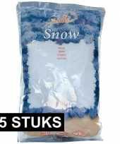 Feest 15x zakken kunst sneeuwvlokken 4 liter