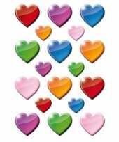 Feest 162x gekleurde hartjes figuren stickers