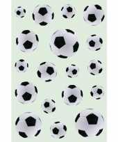 Feest 162x zwart witte voetballen stickers