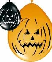 Feest 16x ballonnen in halloween thema