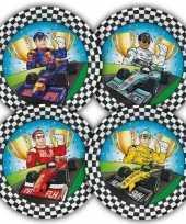 Feest 16x race formule 1 thema bordjes 23 cm