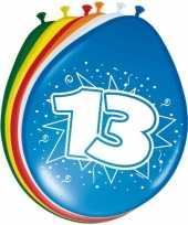 Feest 16x stuks ballonnen 13 jaar 30 cm