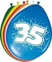 Feest 16x stuks ballonnen 35 jaar