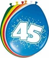 Feest 16x stuks ballonnen 45 jaar