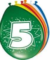 Feest 16x stuks ballonnen 5 jaar