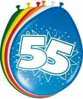 Feest 16x stuks ballonnen 55 jaar