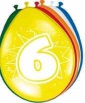 Feest 16x stuks ballonnen 6 jaar