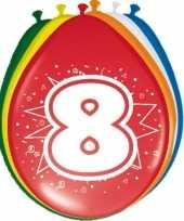 Feest 16x stuks ballonnen 8 jaar