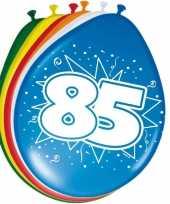 Feest 16x stuks ballonnen 85 jaar