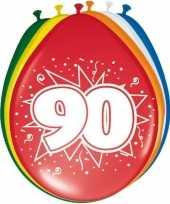 Feest 16x stuks ballonnen 90 jaar