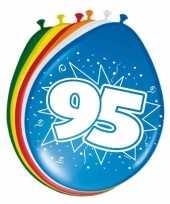 Feest 16x stuks ballonnen 95 jaar