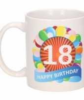 Feest 18e verjaardag cadeau beker mok 300 ml 10083951