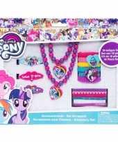Feest 18x my little pony haaraccessoires sieraden set voor meisjes