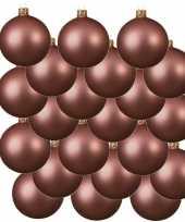 Feest 18x oud roze glazen kerstballen 6 cm mat