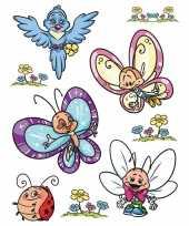 Feest 18x raamstickers vlinders raamdecoratie
