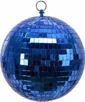 Feest 1x blauwe disco kerstballen discoballen discobollen foam 20 cm