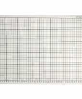 Feest 1x grijze hobby snijmat 30 x 45 cm a3 formaat