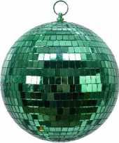 Feest 1x groene disco kerstballen discoballen discobollen foam 20 cm