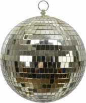 Feest 1x grote gouden disco kerstballen discoballen discobollen foam 20 cm