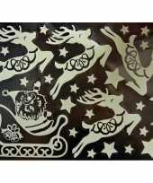 Feest 1x kerst raamversiering glow in the dark raamstickers 29 5 x 40 cm