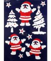 Feest 1x velletje kerst raamversiering kerstmannetjes raamstickers 28 5 x 40 cm