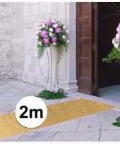 Feest 2 meter gouden glitter loper 1 meter breed