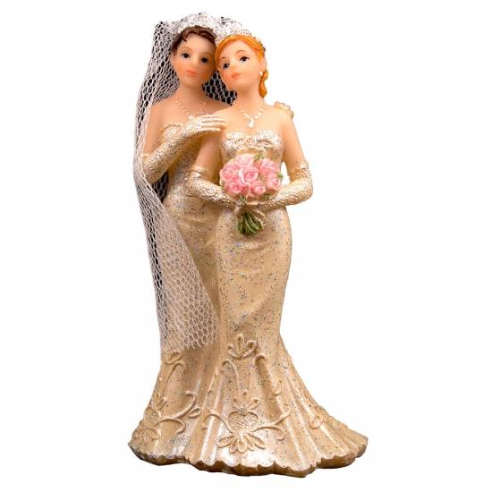 Feest 2 vrouwen bruidspaar taart decoraties