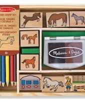 Feest 20 delige stempelset paarden