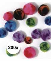 Feest 200x assortiment knutsel pompons