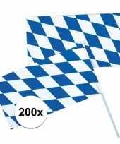 Feest 200x oktoberfest beieren zwaaivlaggen blauw wit