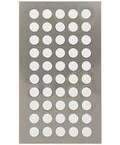 Feest 200x witte ronde sticker etiketten 8 mm