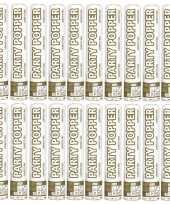 Feest 20x party popper goud en zilver 26 cm