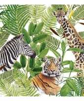 Feest 20x safari jungle thema servetten 33 x 33 cm