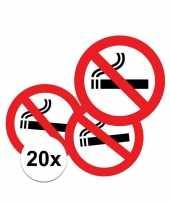 Feest 20x sticker verboden te roken