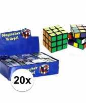 Feest 20x stuks voordelige kubus puzzels van 7 cm
