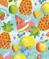 Feest 20x tropisch fruit zomer thema servetten 33 x 33 cm