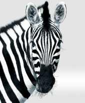 Feest 20x zebra dieren thema servetten zwart wit 33 x 33 cm