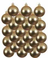 Feest 24x gouden glazen kerstballen 8 cm mat
