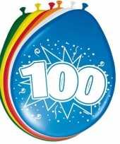 Feest 24x stuks ballonnen 100 jaar