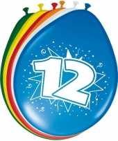 Feest 24x stuks ballonnen 12 jaar